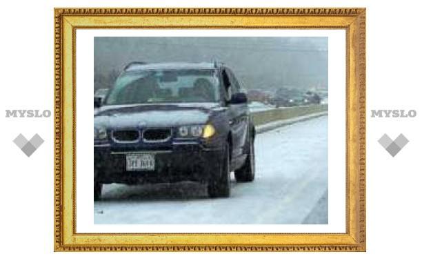 Первый снег в Туле стал причиной ДТП и отключения света