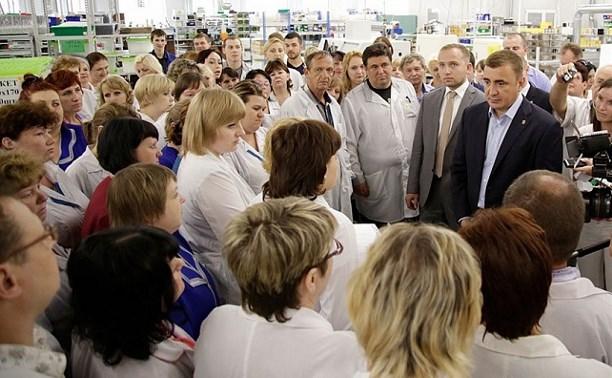 В Богородицке Алексей Дюмин посетил ООО «Завод №423»