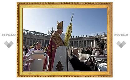 Бенедикт XVI совершил мессу Пальмового воскресенья