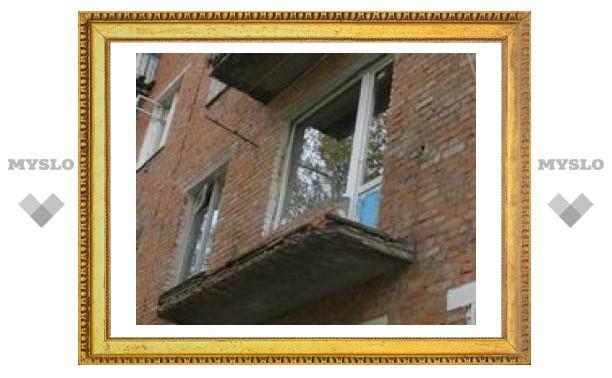 В Туле обвалился балкон