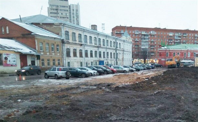 На ул. Союзной в Туле обустраивают парковку