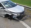 Автоледи протаранила металлическое ограждение