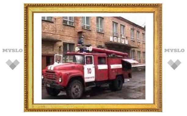 Щекинские пожарные потушили общежитие