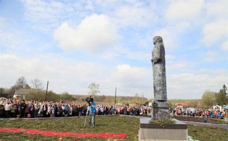 В Кимовском районе открыли памятник Матроне Себинской-Московской