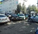На пересечении улиц Тургеневской и Пушкинской столкнулись четыре автомобиля