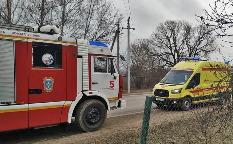 На пожаре в Туле спасли женщину