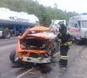 На трассе «Крым» в Щекинском районе столкнулись грузовик и две легковушки