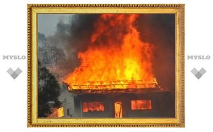 Крупный пожар в Туле: в Заречье тушат частный дом