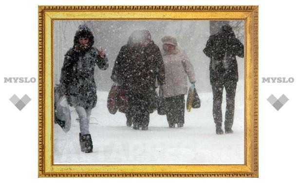На Тулу надвигается новый снегопад