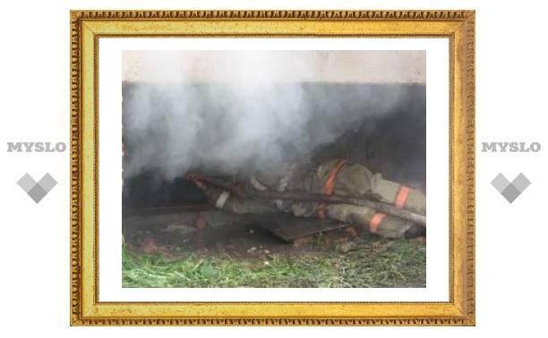 Под Тулой горят дачи