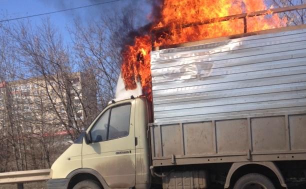 На ул. Рязанской сгорела грузовая «Газель»