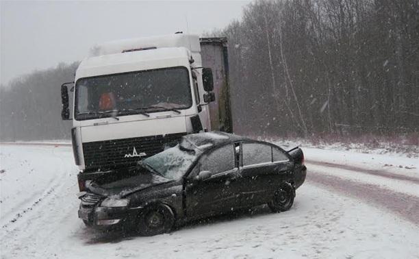 В Тульской области легковушка протаранила грузовик