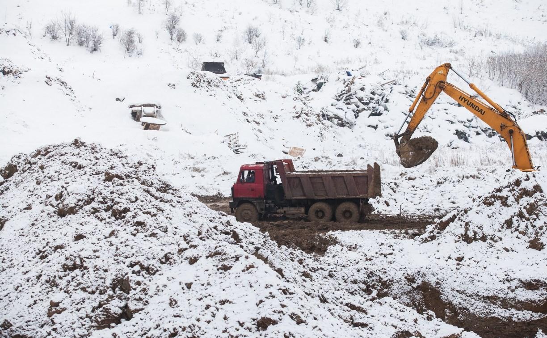 В Туле на Новомосковском шоссе начали строить новый мусорный полигон