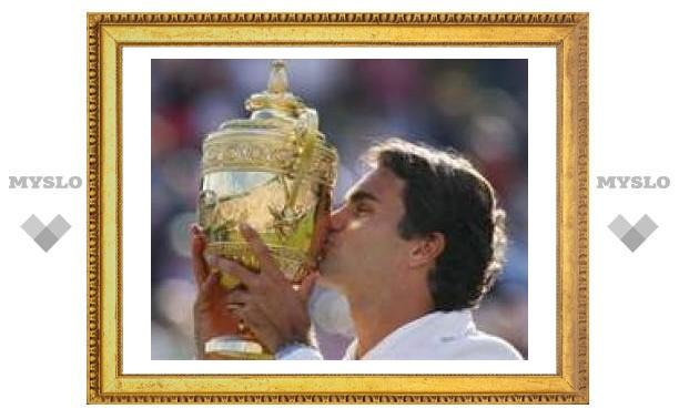 Федерер в пятый раз подряд выиграл Уимблдон