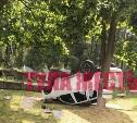 В Новогуровском перевернулся Renault Duster