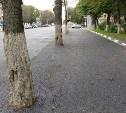 В Туле подрядчик закатал в асфальт деревья на пр. Ленина