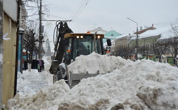 Ежедневно из Тулы вывозят 6500 кубометров снега