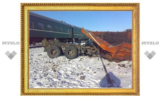 В поезде, который столкнулся с КамАЗом, из Дагестана в Тулу ехали полицейские