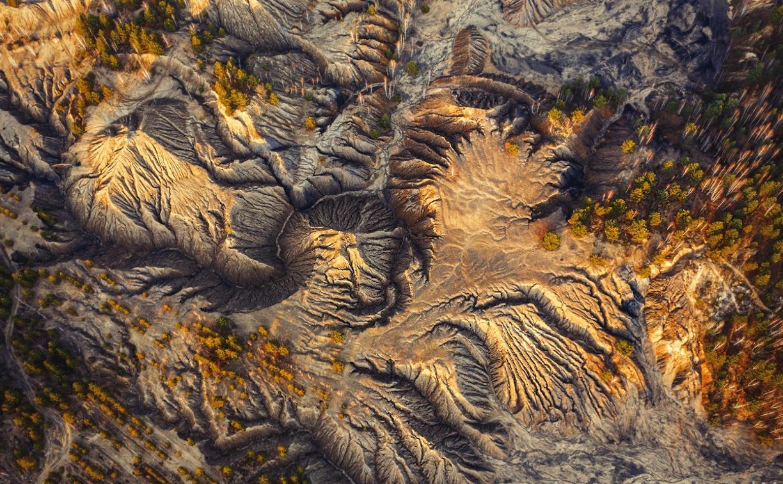 Тульский фотограф запечатлел «марсианский пейзаж» под Суворовом