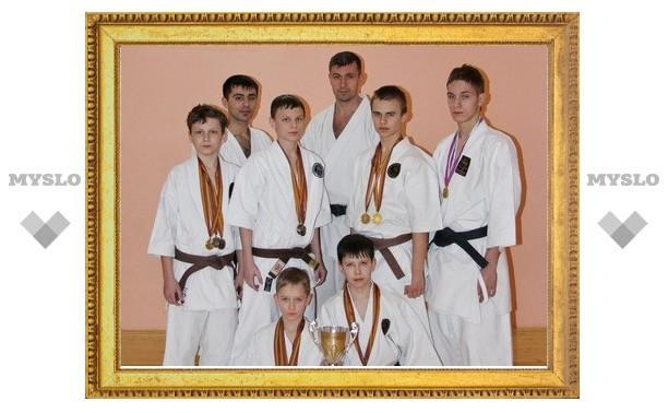 Тульские каратисты собрали урожай медалей в Подмосковье