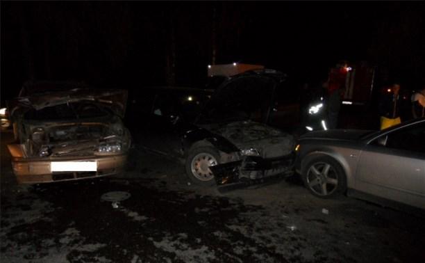 Ночью в Туле столкнулись два «Ауди» и ВАЗ-2111