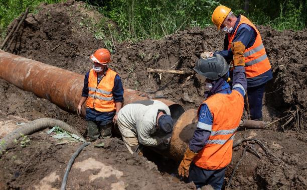 Южная часть Тулы без воды: как продвигается ремонт аварийного участка?