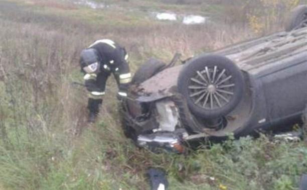 Иномарка опрокинулась в кювет: водитель погиб