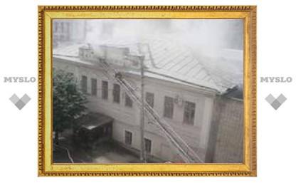 Пожар в Центральном суде Тулы