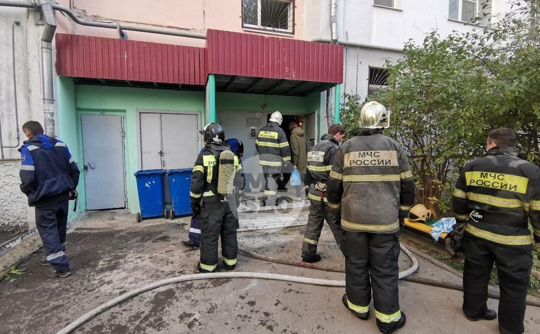 Пожар на ул. Степанова в Туле: в квартире находились мужчина и двухлетний ребенок