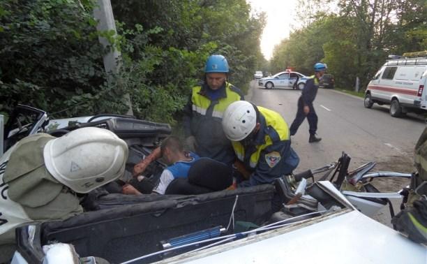 В Туле на улице Киреевской произошла авария
