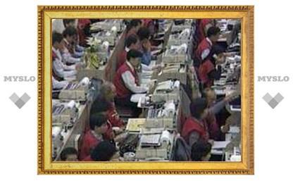 На Токийской фондовой бирже снова обвал