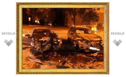 В Туле произошло лобовое столкновение двух авто