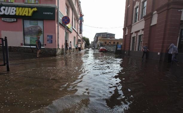Центр Тулы затопило после ливня