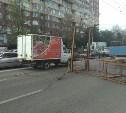 В Туле на проспекте Ленина МАЗ оборвал провода