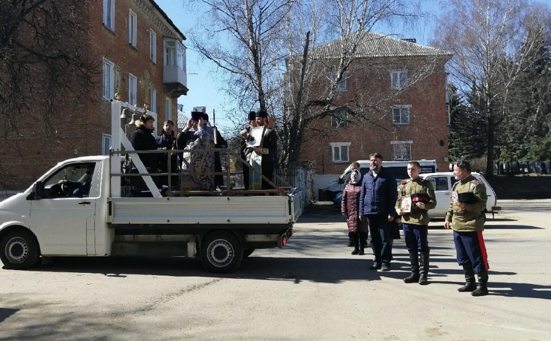 В Богородицке священники окропили город святой водой от коронавируса: видео