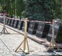 На площади Победы рестраврируют обелиски