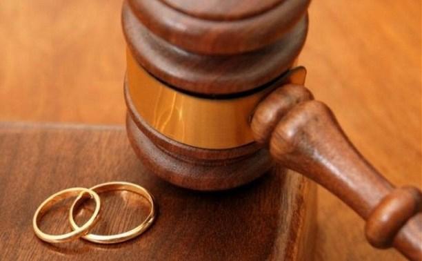 В Тульской области сократилось число разводов