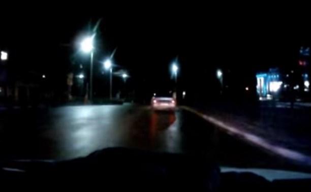 Опубликовано видео ночной погони за пьяной тулячкой