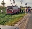 На трассе «Крым» под Тулой произошла авария с участием двух фур и автобуса