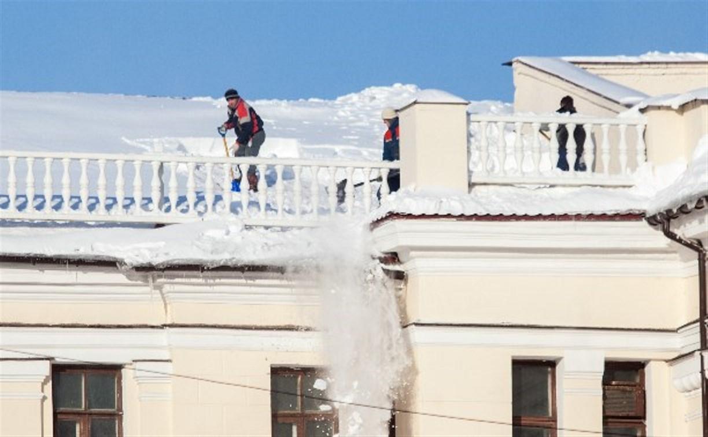 60% домов в Туле очистили от сосулек и снега на крышах