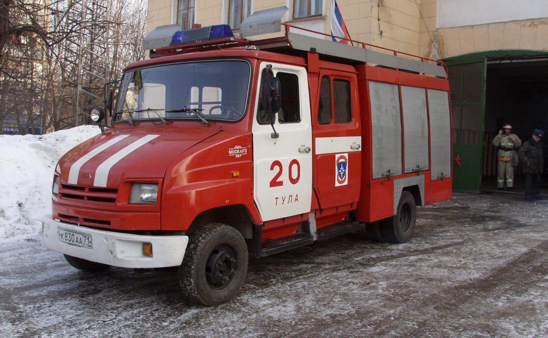 На пожаре в Узловой пострадал мужчина