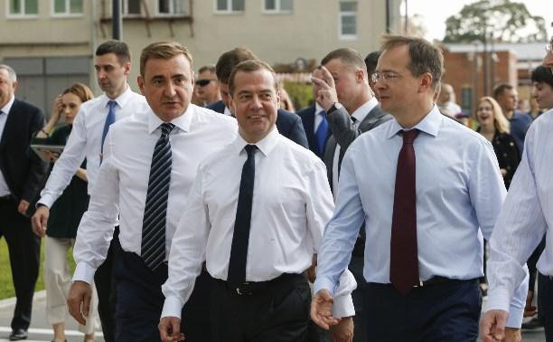 Дмитрий Медведев прогулялся в Туле по Казанской набережной