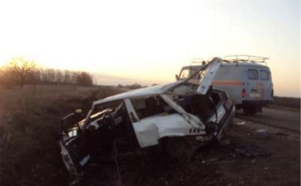 В Тульской области легковой автомобиль съехал в кювет