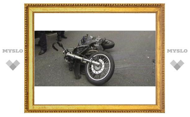 Под Тулой разбился мотоцикл