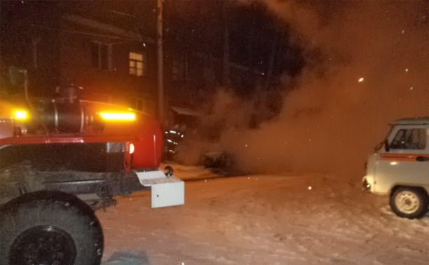 Ночью в Алексине сгорел ВАЗ-2105