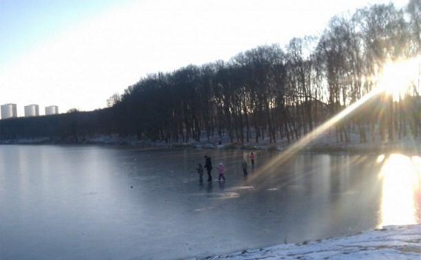 Тульские спасатели предупреждают об опасности выхода на неокрепший лед