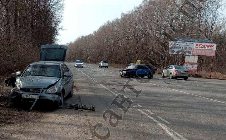 В ДТП на автодороге Тула – Новомосковск пострадали два человека