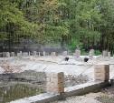 В Детском парке в Новомосковске реконструируют каскады прудов