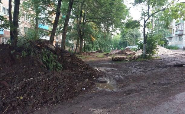 Благоустройство в Туле: Подрядчики раскопали двор и бросили