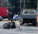 Жесткое ДТП с мотоциклом в Туле: «ГАЗель» не уступила дорогу Yamaha